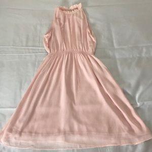 Soft Pink Sleeveless Dress